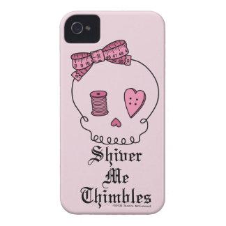Tiembla los dedales (el fondo rosado) iPhone 4 fundas