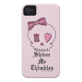 Tiembla los dedales (el fondo rosado) iPhone 4 Case-Mate carcasas