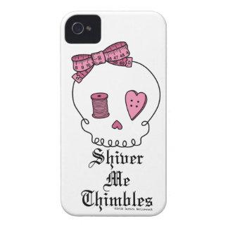 Tiembla los dedales (el rosa) iPhone 4 cárcasa