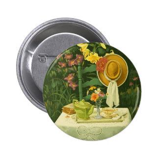 Tiempo 1144 del té en jardín pin