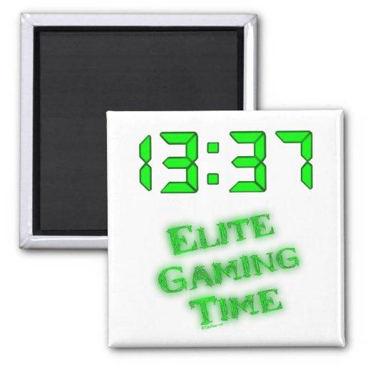 Tiempo 1337 del juego iman de frigorífico