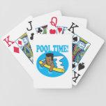 Tiempo 2 de la piscina cartas de juego