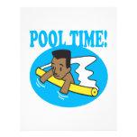 Tiempo 2 de la piscina flyer a todo color