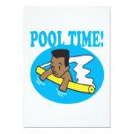 Tiempo 2 de la piscina invitación 12,7 x 17,8 cm