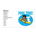 Tiempo 2 de la piscina tarjetas de visita