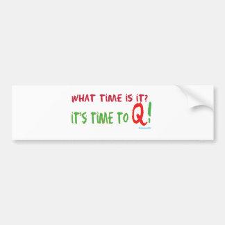 Tiempo a Q Pegatina Para Auto
