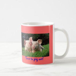 ¡Tiempo al cerdo hacia fuera! Taza De Café