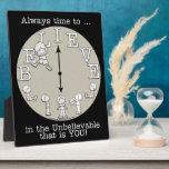 Tiempo al Creer-Pequeños muchacho y reloj Placas De Madera