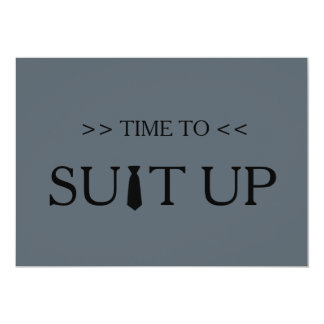 """Tiempo al fondo del gris de Suitup Invitación 5"""" X 7"""""""