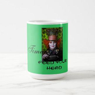 Tiempo/alimentación del té su cabeza tazas
