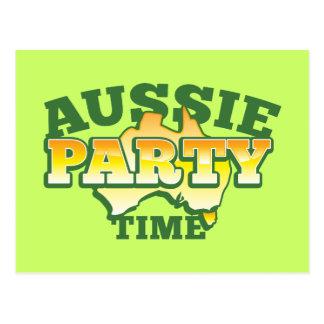 ¡TIEMPO australiano de la PARTE! Postal
