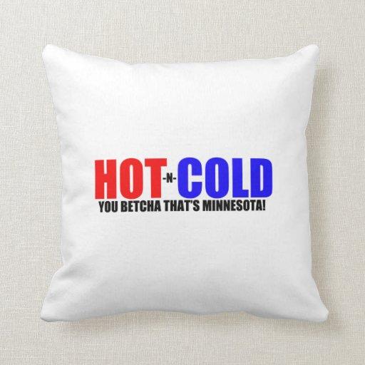 Tiempo caliente y frío del manganeso almohada