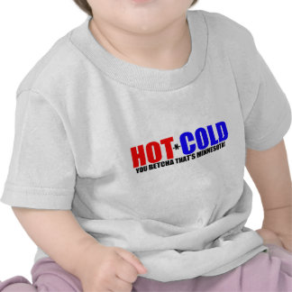 Tiempo caliente y frío del manganeso camiseta
