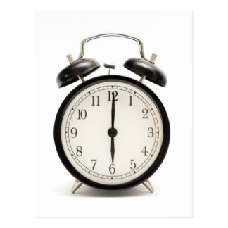¡Tiempo casero!! Reloj lindo del vintage Postal