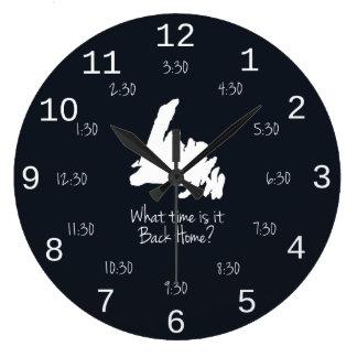 Tiempo casero trasero - edición de MST Reloj Redondo Grande