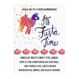 Tiempo Cinco De Mayo de la fiesta Invitación 12,7 X 17,8 Cm
