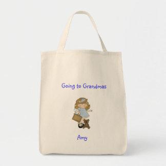 Tiempo con la abuela bolsa tela para la compra