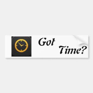 ¿Tiempo conseguido? Pegatina Para Auto