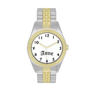 Tiempo de Anne Reloj De Mano