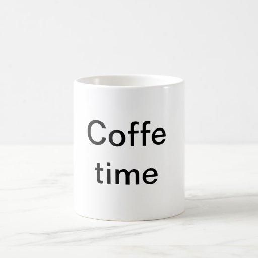 Tiempo de Coffe Taza De Café