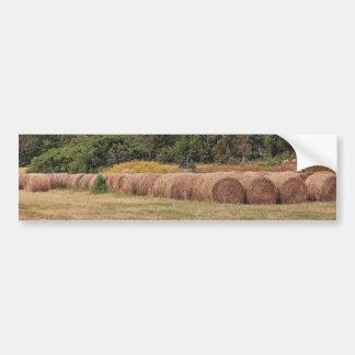 Tiempo de cosecha en Arkansas norcentral Pegatina Para Auto