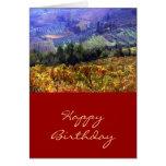 Tiempo de cosecha en el cumpleaños del viñedo tarjetas