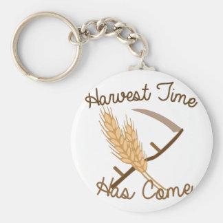 Tiempo de cosecha llavero redondo tipo pin