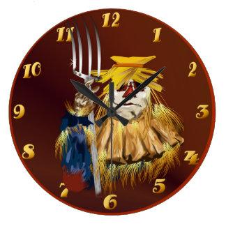 Tiempo de cosecha reloj redondo grande