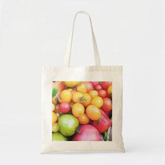 ¡Tiempo de cosecha - tomates! Bolsa Tela Barata