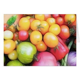 ¡Tiempo de cosecha - tomates! Felicitacion