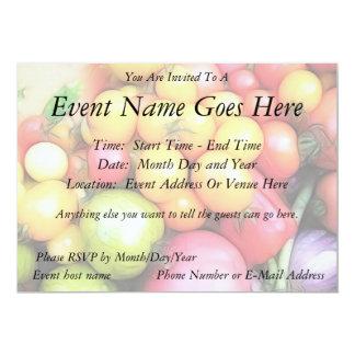 ¡Tiempo de cosecha - tomates! Invitación Personalizada