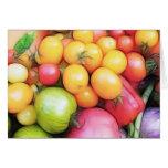 ¡Tiempo de cosecha - tomates! Tarjeta De Felicitación