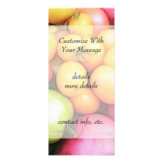 ¡Tiempo de cosecha - tomates! Tarjetas Publicitarias A Todo Color