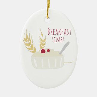 ¡Tiempo de desayuno! Adorno Ovalado De Cerámica