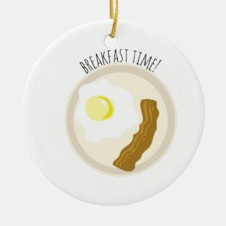 ¡Tiempo de desayuno! Adorno Redondo De Cerámica