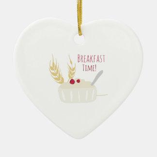 ¡Tiempo de desayuno! Adorno De Cerámica En Forma De Corazón