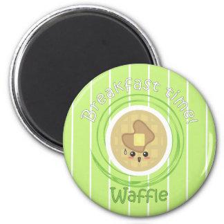 Tiempo de desayuno - galleta imán redondo 5 cm