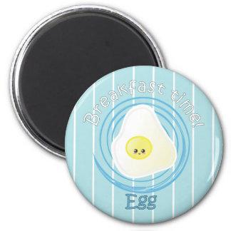 Tiempo de desayuno - huevo imán redondo 5 cm