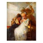 Tiempo de Francisco Goya- de las mujeres mayores Tarjeta Postal