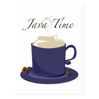 Tiempo de Java Tarjetas Postales