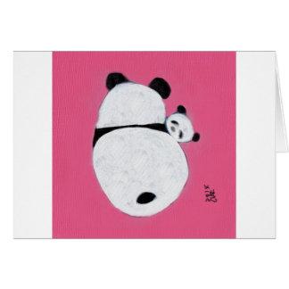 Tiempo de la abrazo - rosa tarjeta de felicitación