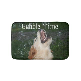 Tiempo de la burbuja del golden retriever