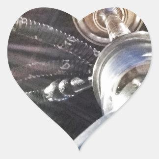 Tiempo de la cachimba pegatina en forma de corazón
