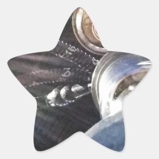 Tiempo de la cachimba pegatina en forma de estrella