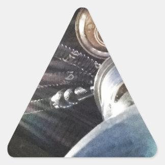 Tiempo de la cachimba pegatina triangular
