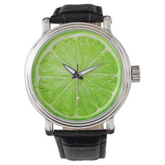 Tiempo de la cal reloj de mano