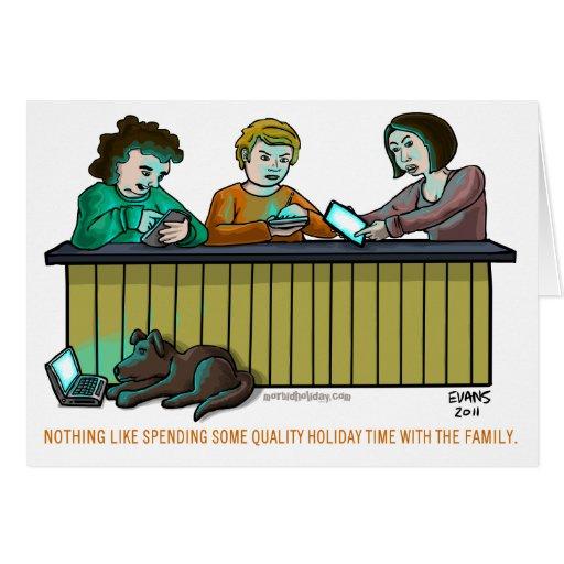 Tiempo de la calidad tarjeta de felicitación