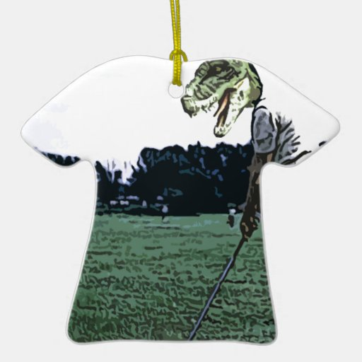 tiempo de la camiseta del dinosaurio adorno de reyes