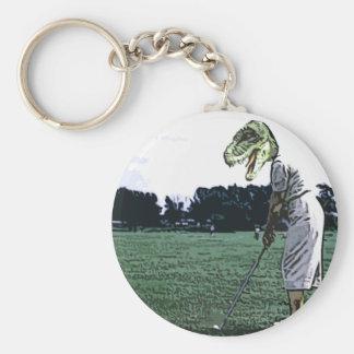 tiempo de la camiseta del dinosaurio llavero personalizado