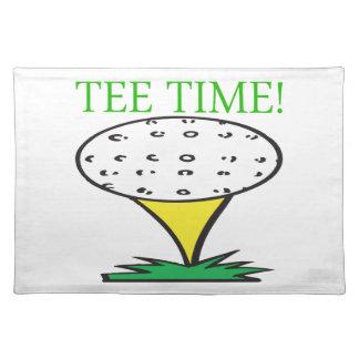 Tiempo de la camiseta mantel individual